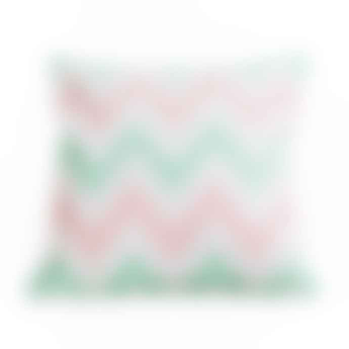 Chickidee Geometric Zig Zag Pink Mint Cushion