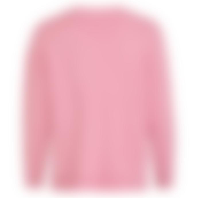 Vila Viril Oversized V-Neck Sweater Pink