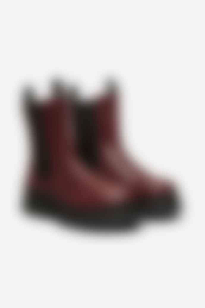 Selected Femme Burgundy Lucy Leather Chelsea Boot