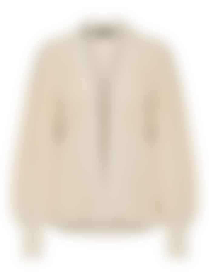 Selected Femme Slfemmy Ribbed Cardigan In Sandshell