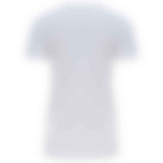 120% Lino Scoop Neck Tee in White