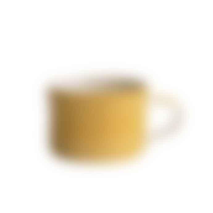 Musango Sgraffito Ceramic Mug Turmeric