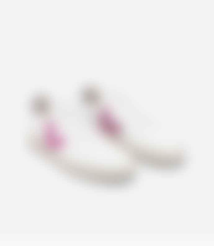 Veja Vegan V 10 White Ultra Violet Purple Sneakers