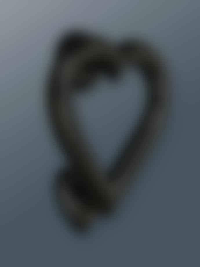Bramley & White Heart Door Knocker Black Finish