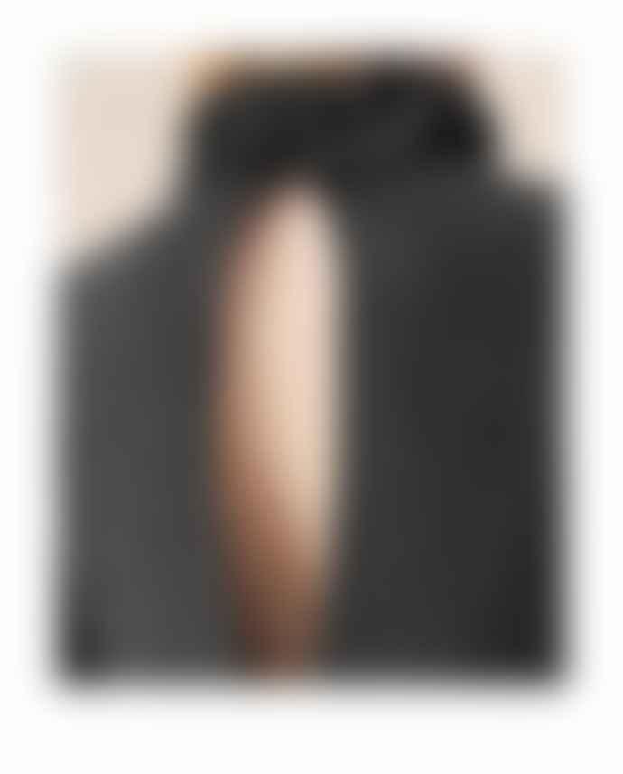 Ganni Rib Knit Frill Blouse Phantom