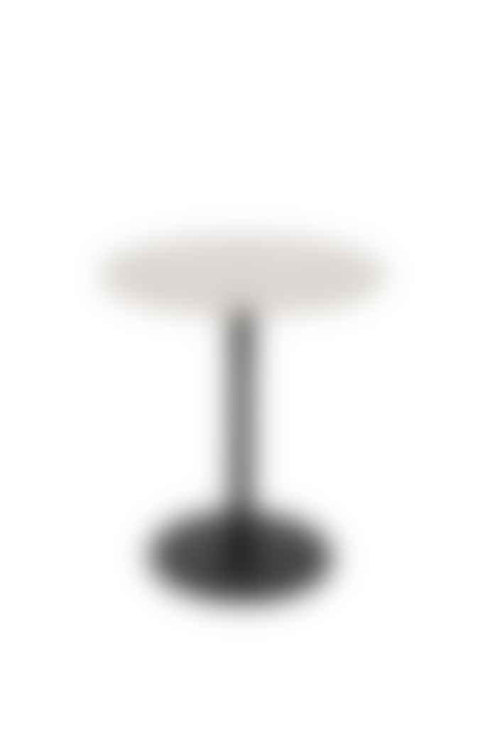 Lillian Daph Side Table Snow Brushed Satin