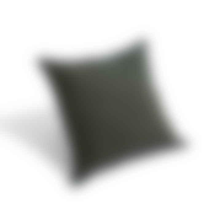 HAY Outline Cotton-Linen Blend Cushion Moss Green