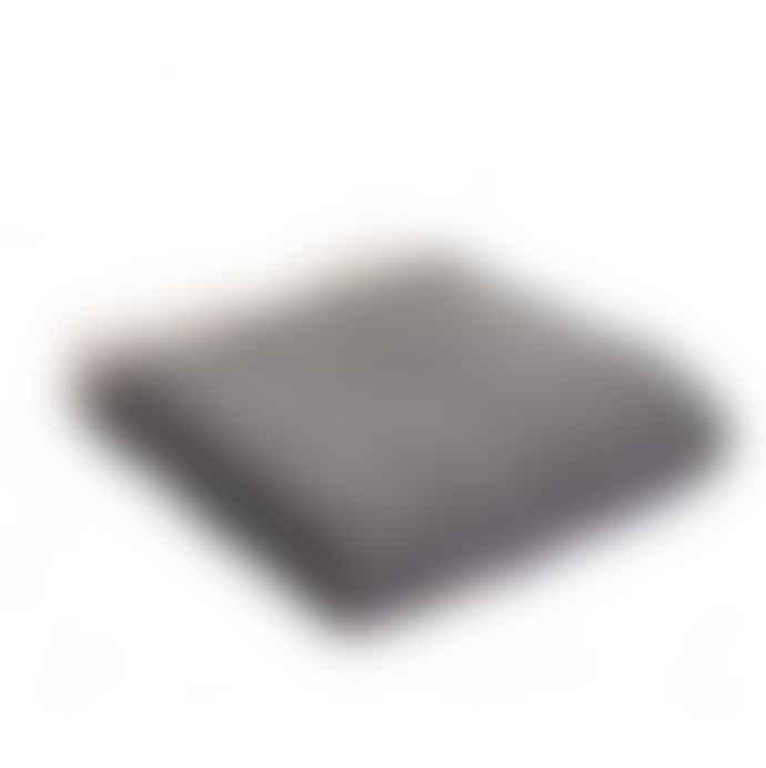Camperdown Lane Pure New Wool Throw In Charcoal And Silver Herringbonem