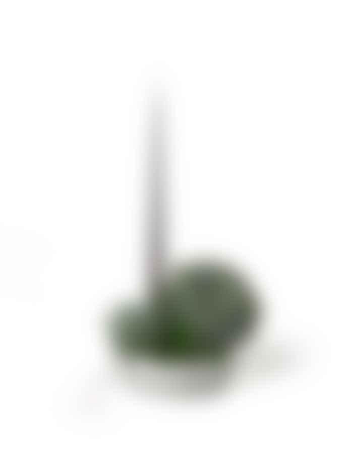 Aery White Orbital Step Medium Clay Candle Holder