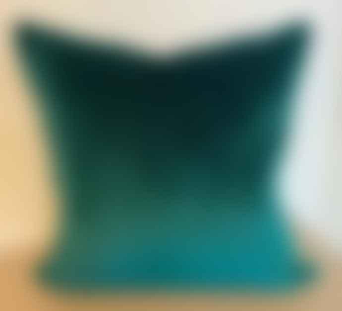 Bramley & White Bespoke Plush Jade Green Velvet Cushion