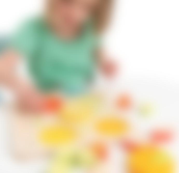 Tender Leaf Toys Wooden Citrus Fractions Educational Puzzle