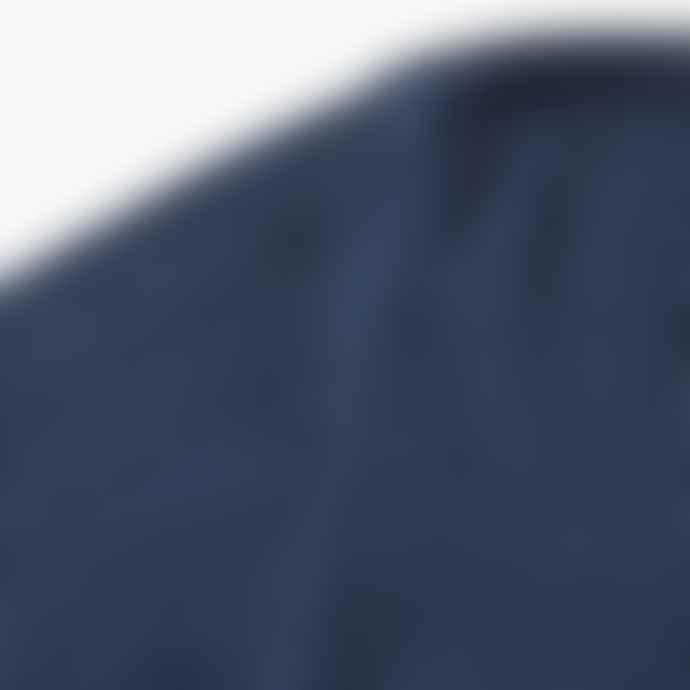 Blue de Genes Laurenzi Wool Henley Sailor Blue