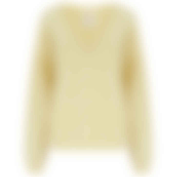 People's Republic of Cashmere V-Neck Sweater in Mellow Yellow