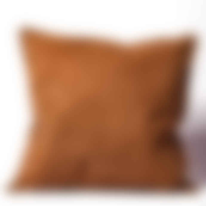 House Doctor Rusted Red Corduroy Cushion