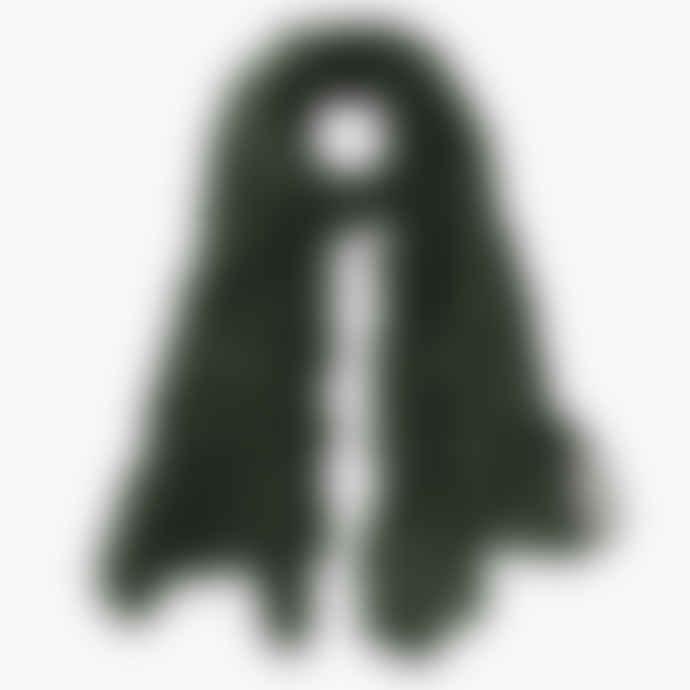 Pur Schoen Hand Felted Cashmere Soft Scarf Zebra Military Black