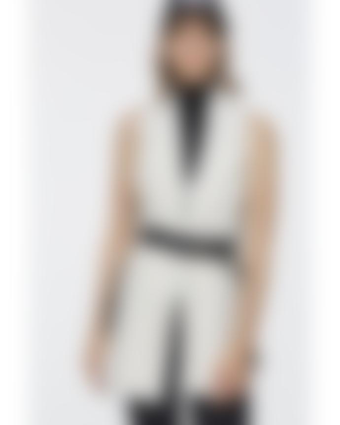 DOROTHEE SCHUMACHER Curly Mix Scarf Vest