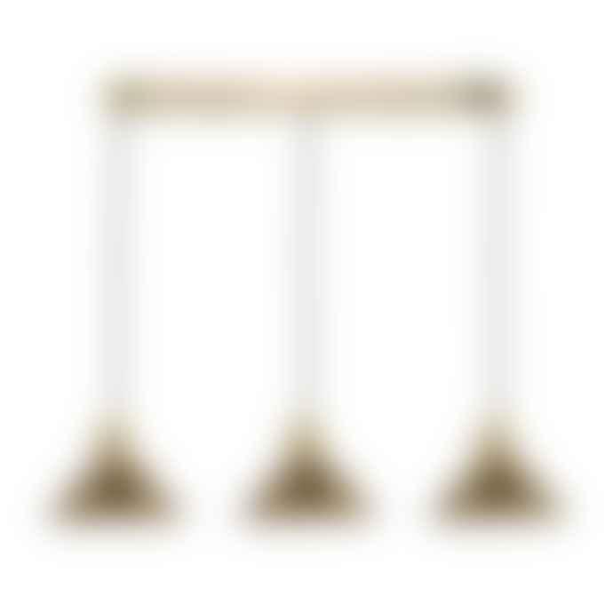 Persora Hadano 3 Light Brass Suspension With Aged Brass Shades