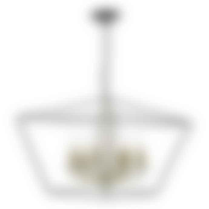 Persora Gretchen 6 Light Pendant Matt Black Polished Brass