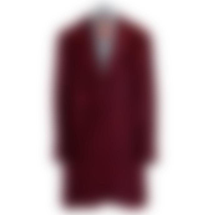 Vilagallo Abboston Check Coat Red