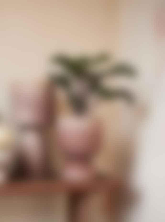 Madam Stoltz Powder Pink Brown Tall Flower Pot