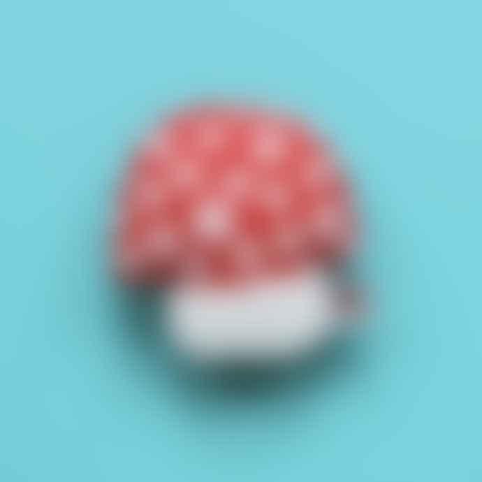 Donna Wilson Red Mushroom Mini Cushion