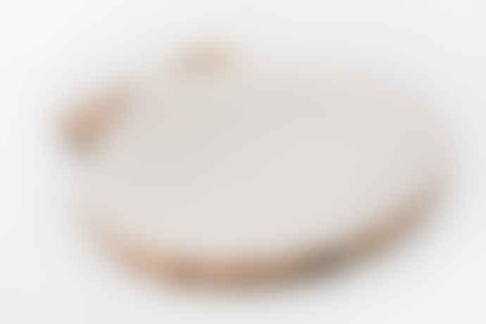 BY ROOM Seashell White Pearl Mango Dish M By Room