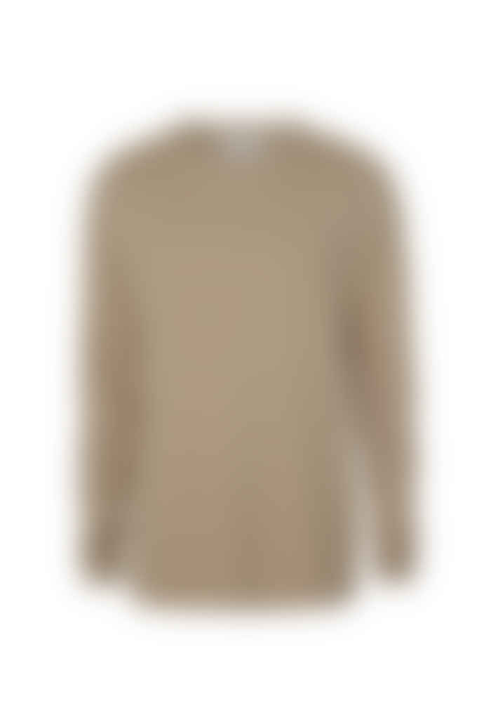 Les Deux Brenon Linen T-Shirt - Dark Sand