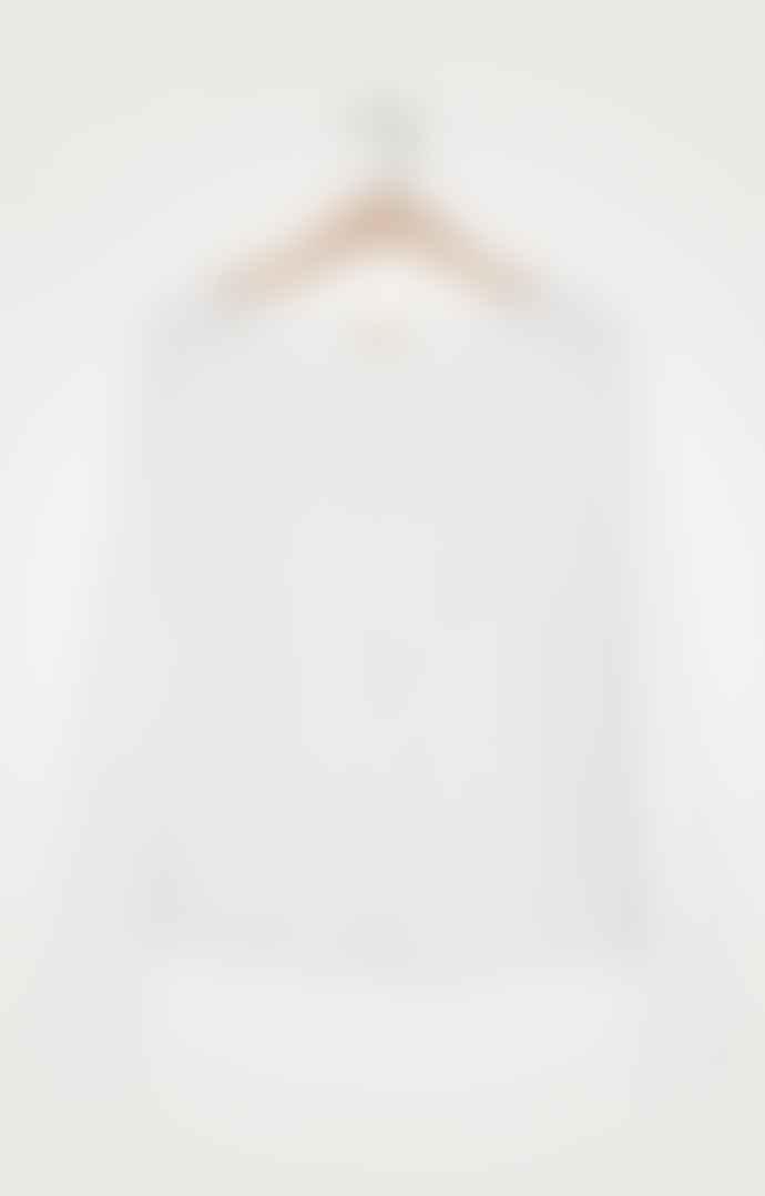 American Vintage Sonoma 36 White Long-Sleeved T-Shirt
