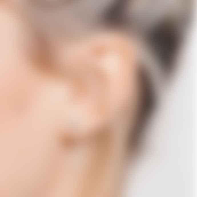 Matthew Calvin Drop Back Dot Stud Earrings Silver