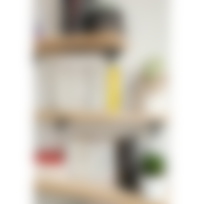 Tiptoe Wall Shelf Bracket in Black Powder-Coated Steel