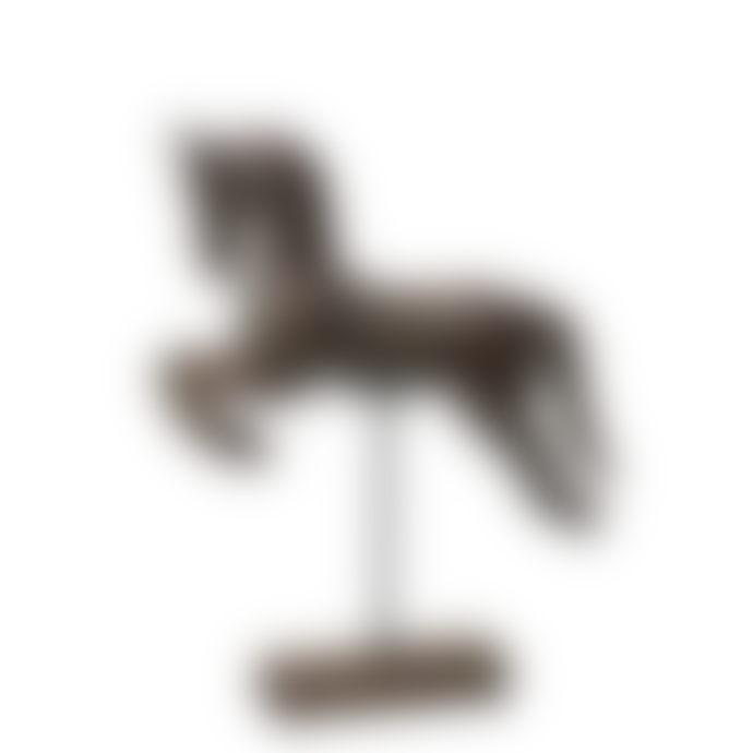Wikholm Form Distressed Black Mango Wood Amba Horse