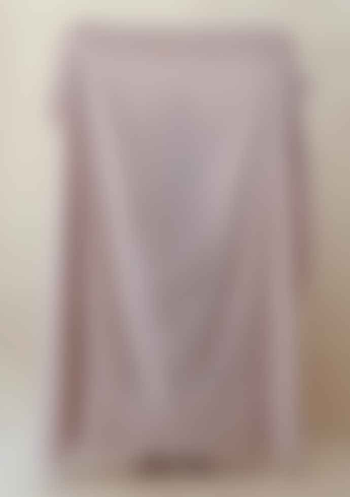 The Tartan Blanket Co. Dusky Pink Gingham Lambswool Blanket