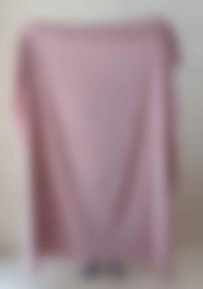 The Tartan Blanket Co. Lambswool Blanket Dusky Pink