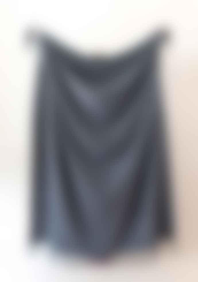 The Tartan Blanket Co. Lambswool Blanket Charcoal Melange