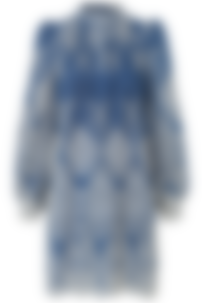 Munthe Tepic Embroidered Dress In Blue