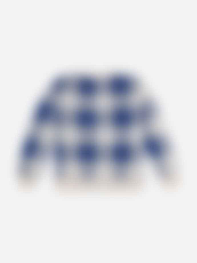 Bobo Choses Long Sleeve Knitted Gingham Cardigan