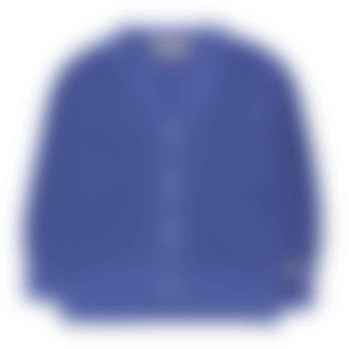 Tinycottons Iris Blue Solid Cardigan