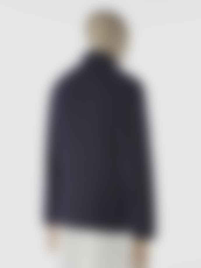 Universal Works Bakers Jacket In Navy Wool Marl