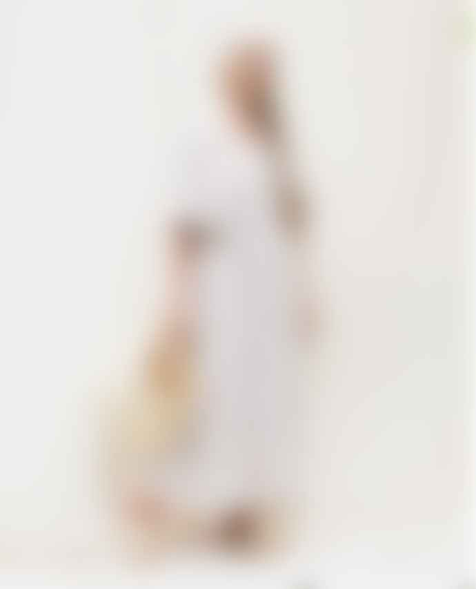 Beaumont Organic SPRING Cream Plum Lesley Sue Linen Dress