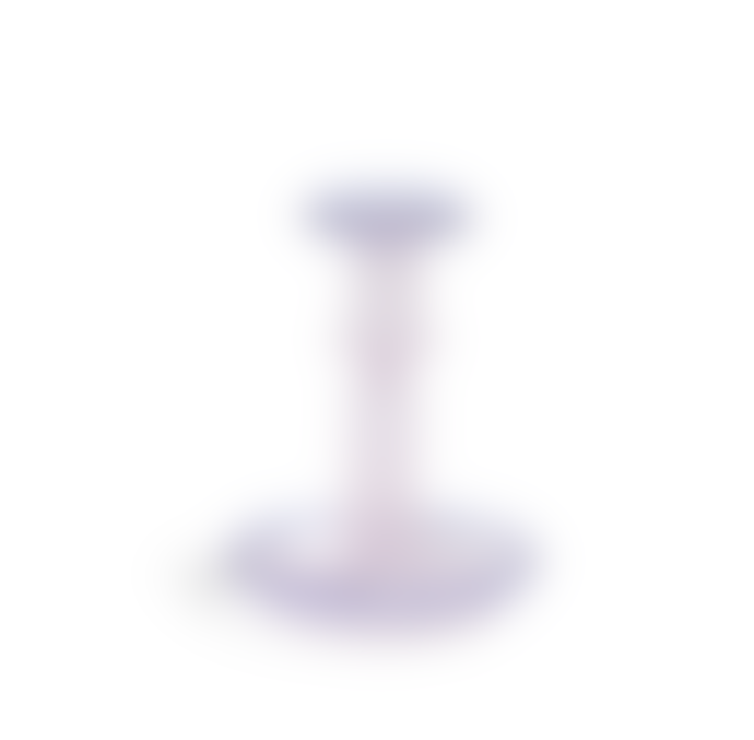 HAY Flare Glass Candleholder Medium Pink