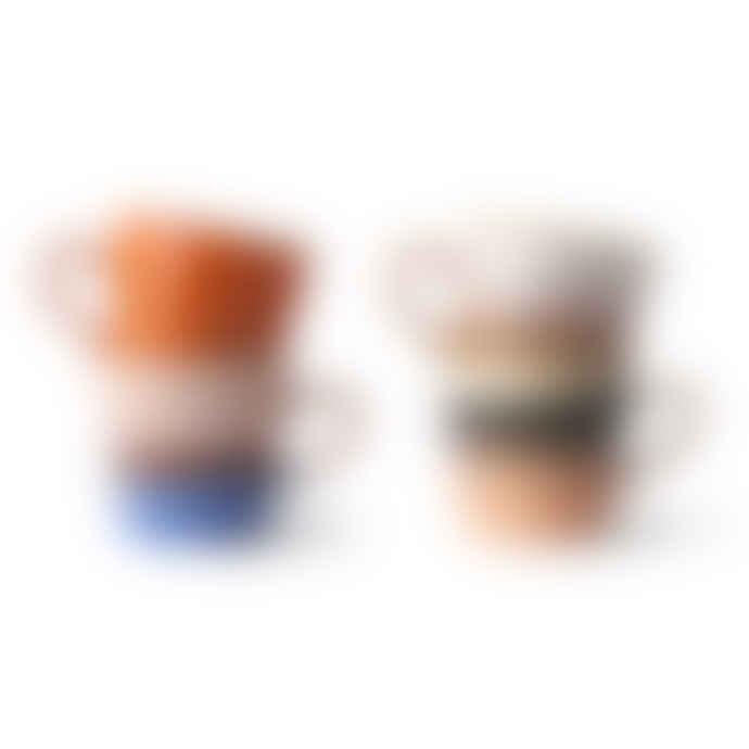 HKliving Americano Mugs 71 Set of 4