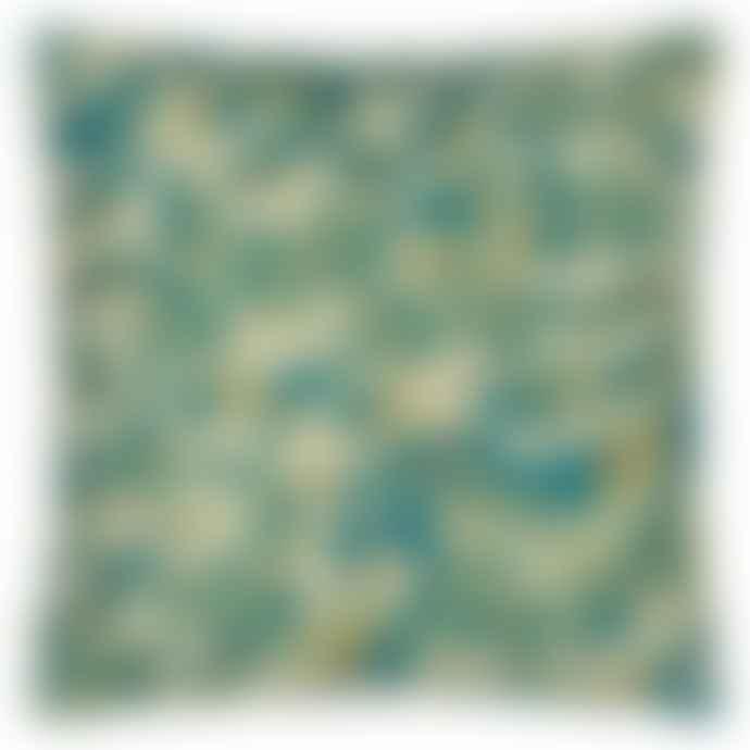 Designers Guild John Derian Tulip Cobalt Linen Mix Cushion