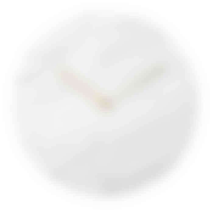 Menu Marble wall clock, white