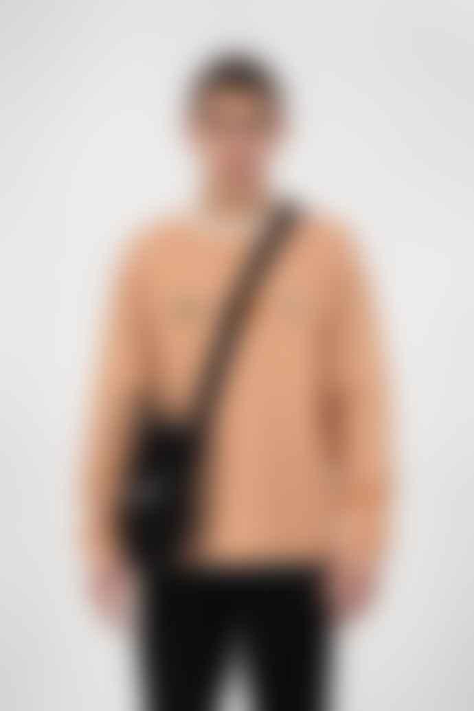 Olaf Hussein White Orange Stripe Sans Ls Tee
