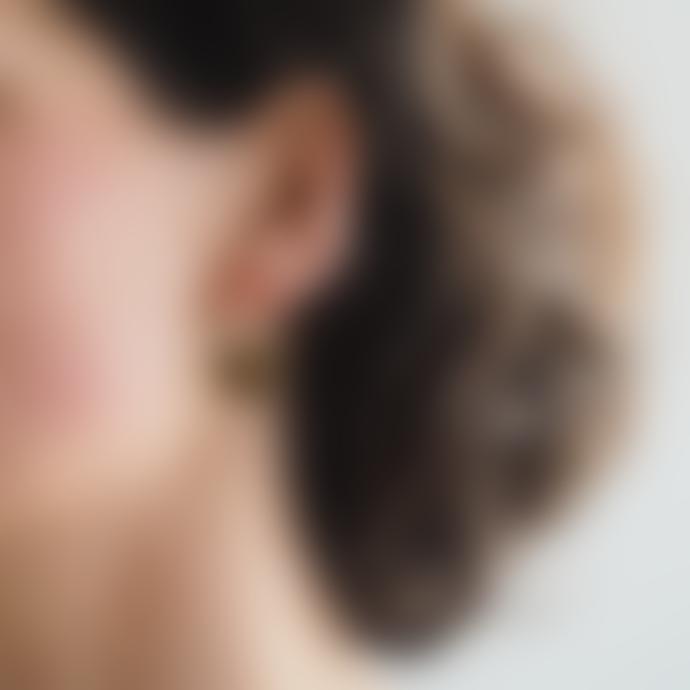 Roake Emma Brass Silver Earrings