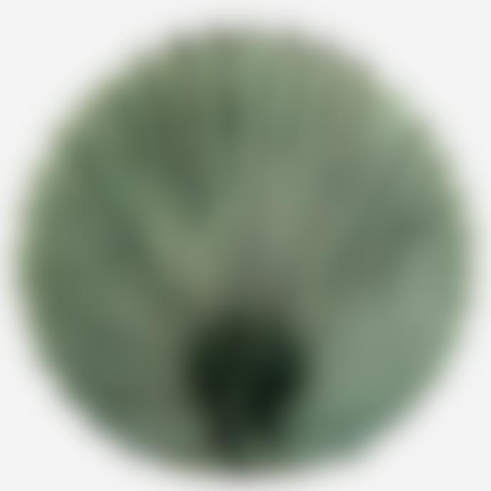 Madam Stoltz Green Stoneware Leaf Vase