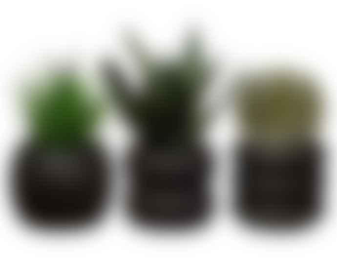 Black Concrete Totem Planters
