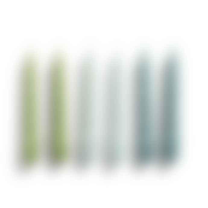 HAY Velas Spiral Set De 6 Green Artic Teal Blue