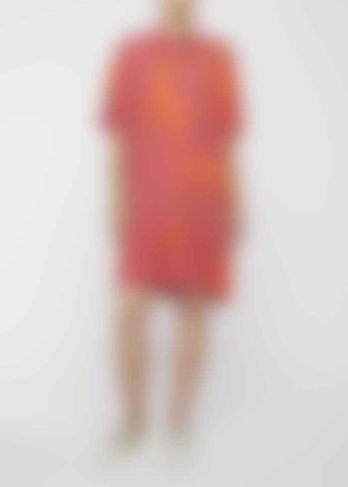 Paul Smith Pink and Orange Italian Greyhound Print Dress