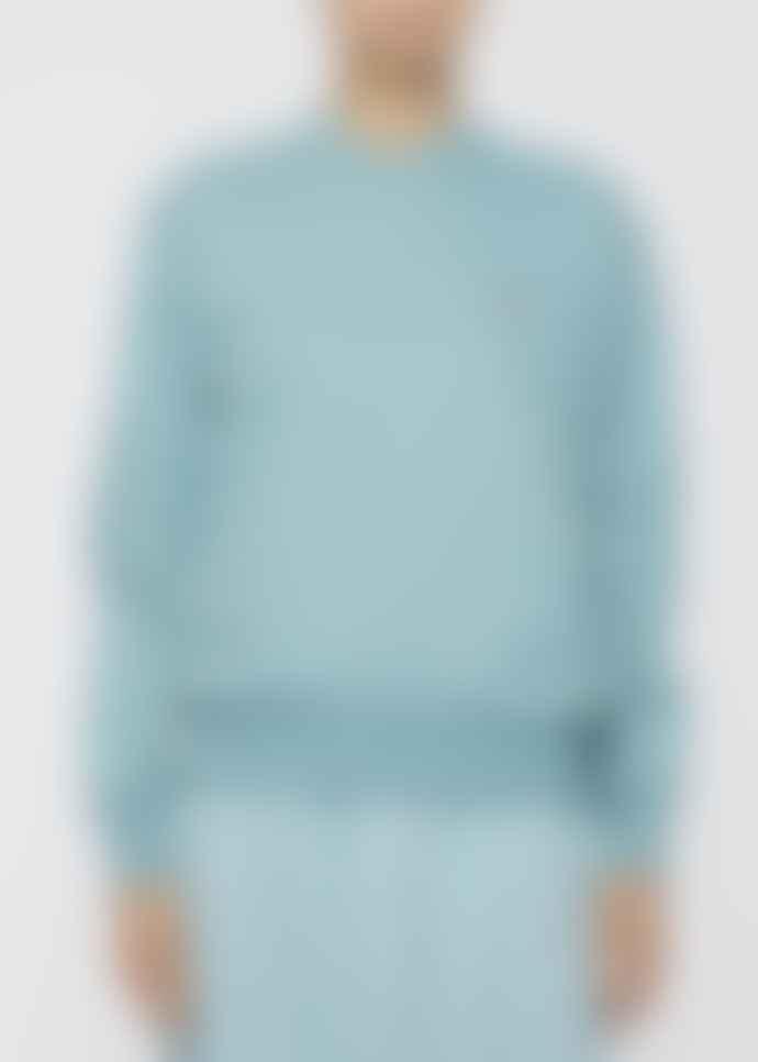 Paul Smith Turquoise Organic Cotton Zebra Logo Sweatshirt